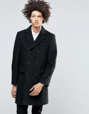 Gianni Feraud Пальто из вареной шерсти Premium. Цвет: черный