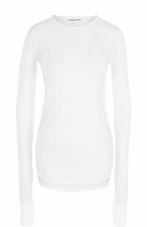 Облегающий пуловер фактурной вязки Helmut Lang. Цвет: белый