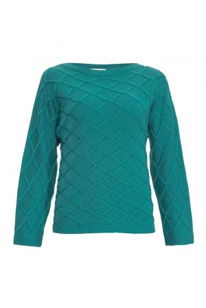 Джемпер из шелка с кашемиром 136703 Sweet Sweaters. Цвет: зеленый