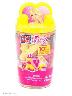 Набор Barbie в тубусе Подставка для карандашей MEGA BLOKS. Цвет: желтый, малиновый, розовый