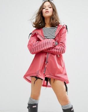 Hunter Womens Original Festival Raincoat. Цвет: розовый