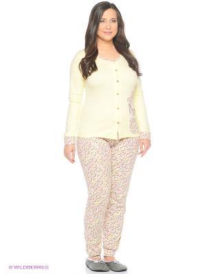 Женская пижама NICOLETTA. Цвет: желтый