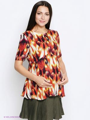 Блузка MammySize. Цвет: оранжевый