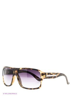 Солнцезащитные очки United Colors of Benetton. Цвет: коричневый, черный