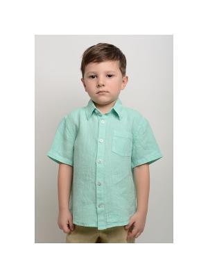 Рубашка Грей-2 LINO RUSSO. Цвет: светло-зеленый