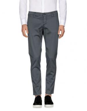 Повседневные брюки DERRIÉRE. Цвет: серый