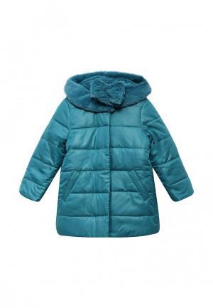 Куртка утепленная Fleur de Vie. Цвет: бирюзовый