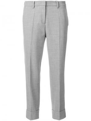 Укороченные зауженные брюки Cambio. Цвет: серый