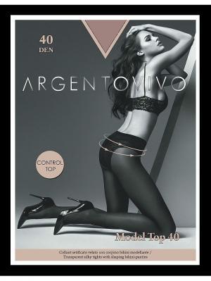 Колготки Model Top 40 Argentovivo. Цвет: светло-коричневый