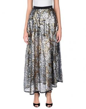 Длинная юбка NINEMINUTES. Цвет: серый