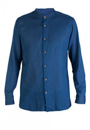 Рубашка LUIGI BORRELLI. Цвет: синий