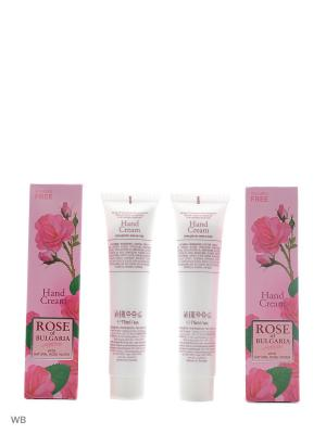 Промо комплект Крем для рук Rose of Bulgaria 2 шт Biofresh. Цвет: розовый, белый