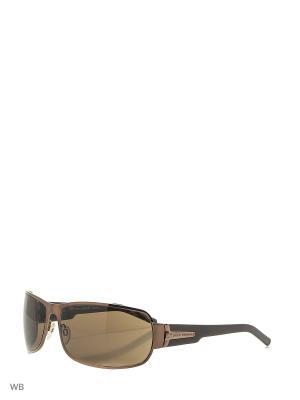 Солнцезащитные очки XS 411 036 PACO RABANNE. Цвет: коричневый, черный