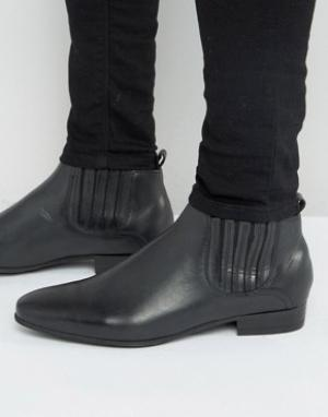 Hudson London Кожаные ботинки челси Zelus. Цвет: черный
