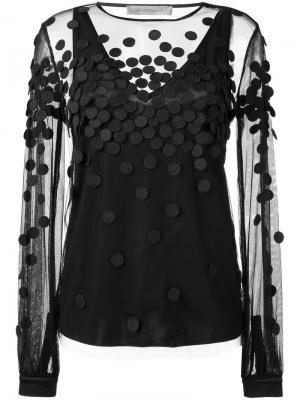 Прозрачная блузка Sportmax. Цвет: чёрный