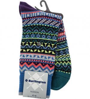 Шерстяные носки в полоску Burlington. Цвет: полоска