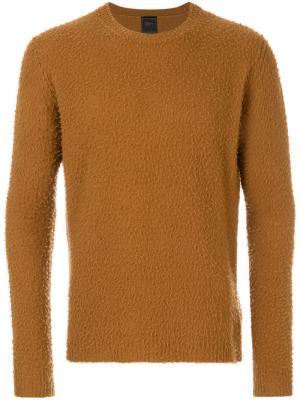 Джемпер с круглым вырезом Dondup. Цвет: коричневый