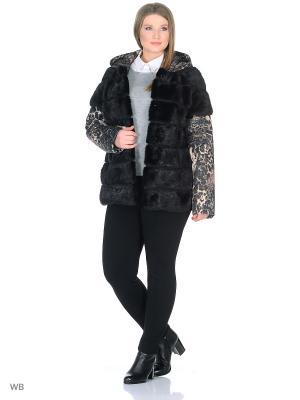 Куртка PRIMA WOMAN. Цвет: черный, коричневый