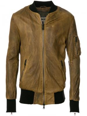 Куртка на молнии Giorgio Brato. Цвет: коричневый