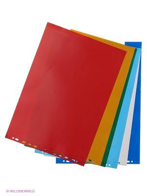 Разделитель лист А3 5 цветов горизонтальный VELD-CO. Цвет: белый, желтый, зеленый, красный, синий