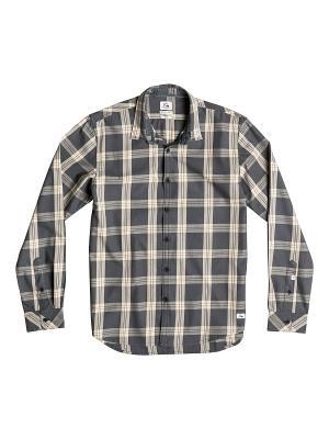 Рубашка Quiksilver. Цвет: кремовый, темно-серый
