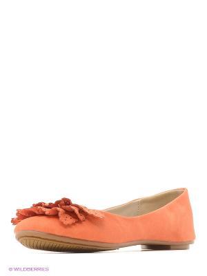 Балетки Burlesque. Цвет: оранжевый