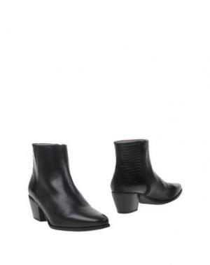 Полусапоги и высокие ботинки UNISA. Цвет: черный