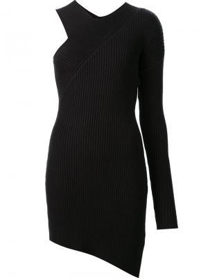 Асимметричное платье с одним рукавом Nomia. Цвет: синий