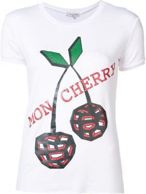 Футболка Mon Cherry Natasha Zinko. Цвет: белый