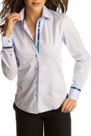 Рубашка GAZOIL. Цвет: blue and white