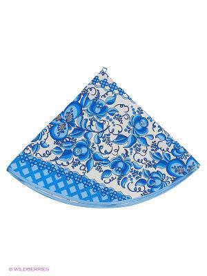 Полотенце круглое Метиз. Цвет: белый, синий