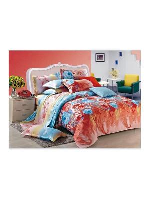 Комплект постельного белья 1,5 сп. сатин, рисунок 683 LA NOCHE DEL AMOR. Цвет: терракотовый