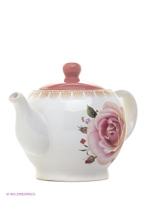 Завар/чайник 950мл с/кр НЕЖНОСТЬ LORAINE. Цвет: белый, розовый