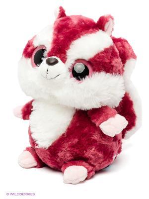 AURORA Юху и друзья Игрушка мягкая Красная Белка 25см. Цвет: белый, малиновый