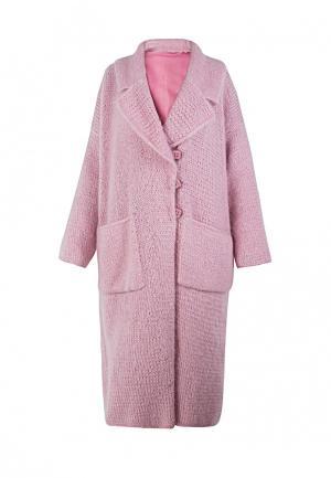 Пальто CeMegeve. Цвет: розовый