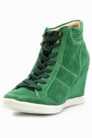 Кроссовки Andrea Conti. Цвет: зеленый