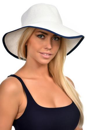 Шляпа DelMare. Цвет: белый, синий