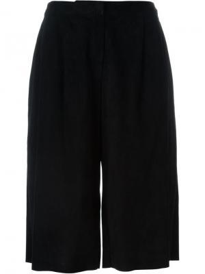 Укороченные широкие брюки Drome. Цвет: чёрный