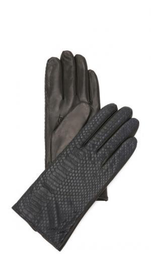 Перчатки из змеиной кожи с разрезом со стороны ладони Carolina Amato