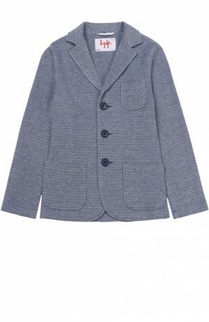 Однобортный пиджак джерси Il Gufo. Цвет: голубой