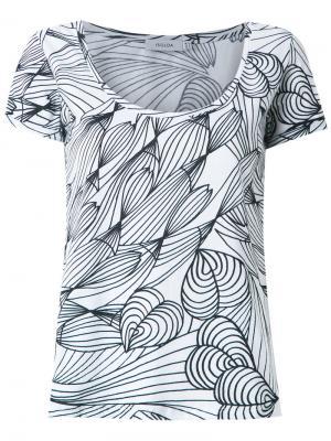 Graphic print T-shirt Isolda. Цвет: белый