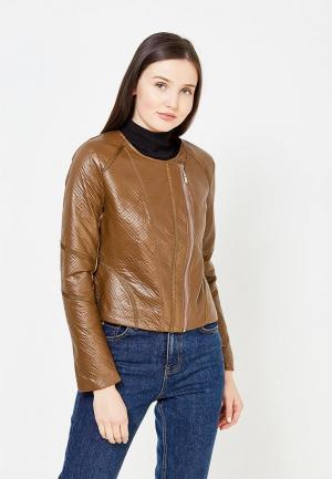 Куртка кожаная Lucy & Co.. Цвет: коричневый