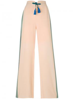 Брюки-палаццо с полосами по бокам Antonia Zander. Цвет: телесный