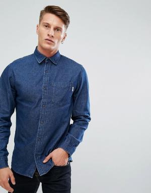 Jack & Jones Темно-синяя джинсовая рубашка свободного кроя Intelligenc. Цвет: синий
