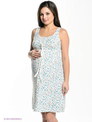 Платье Hunny Mammy. Цвет: молочный, бирюзовый