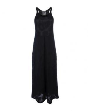 Длинное платье ES'GIVIEN. Цвет: черный