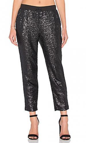 Спортивные брюки с блестками Splendid. Цвет: черный