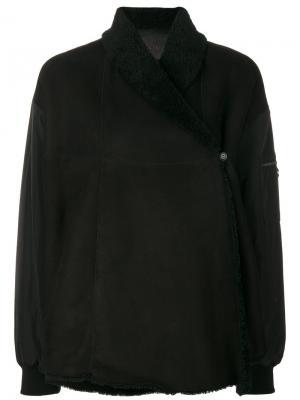 Асимметричное пальто с подкладкой Drome. Цвет: чёрный