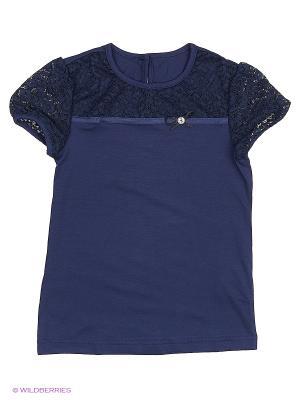 Блузка КАЛIНКА. Цвет: синий