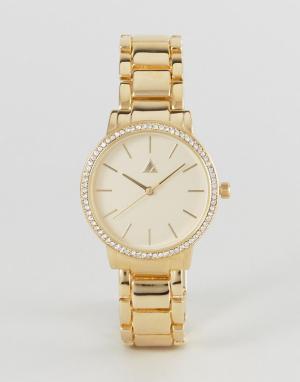 ASOS Наручные часы Premium. Цвет: золотой